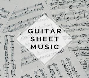 GUITAR Masquerade Sheet Music w/ KARAOKE