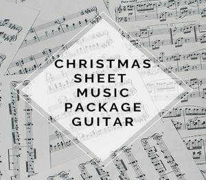 GUITAR Christmas Sheet Music Package