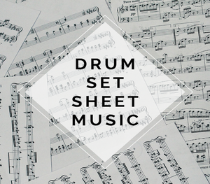 DRUMS Crystallize Sheet Music w/ 4 Play-Along Tracks