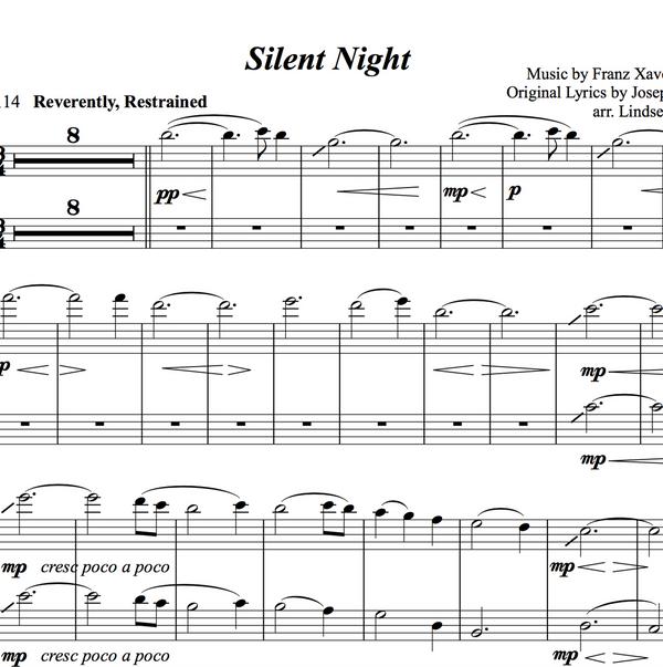 VIOLA Silent Night Solo and Duet+Vocal Trio w/ Karaoke Piano Play-Along Tracks - Sheet Music