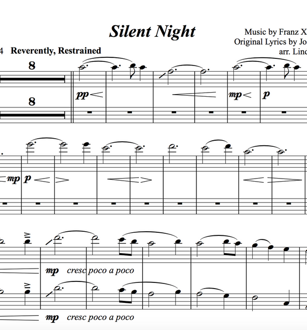 CELLO Silent Night Solo and Duet+Trio w/ KARAOKE and ORIGINAL BACKTRACK - Sheet Music