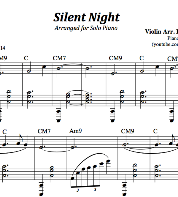 PIANO - Silent Night Sheet Music