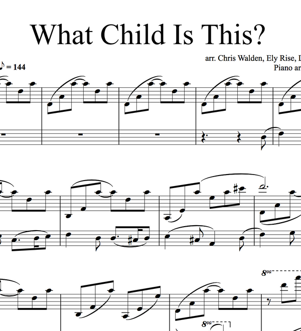 PIANO - What Child Is This Sheet Music (Warmer in the Winter AND Original YouTube versions)