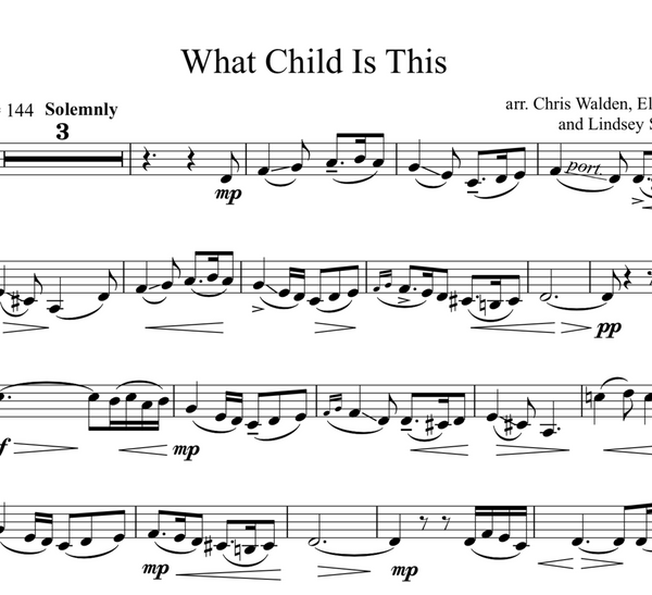 What Child Is This w/ Karaoke and ORIGINAL BACKTRACKS - Sheet Music