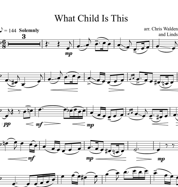 CELLO - What Child Is This w/ Karaoke and ORIGINAL BACKTRACKS - Sheet Music