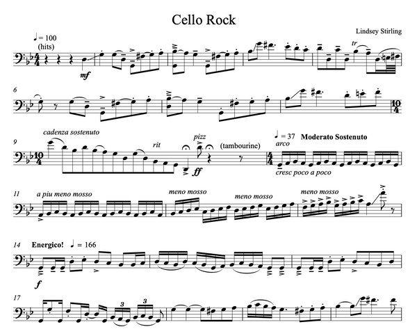 CELLO Rock Sheet Music w/ KARAOKE Play-Along Tracks