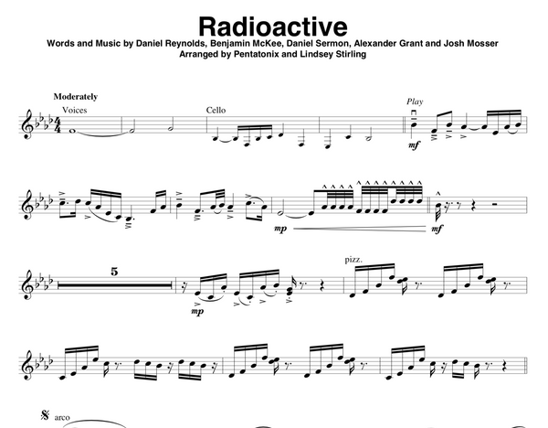 Radioactive Sheet Music