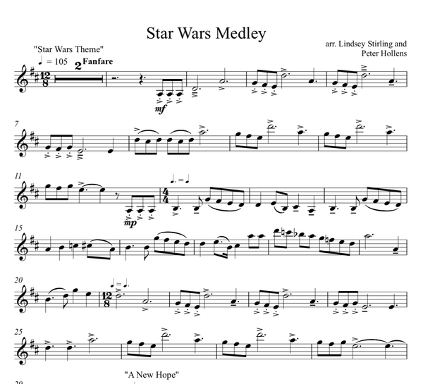 Star Wars Medley Sheet Music