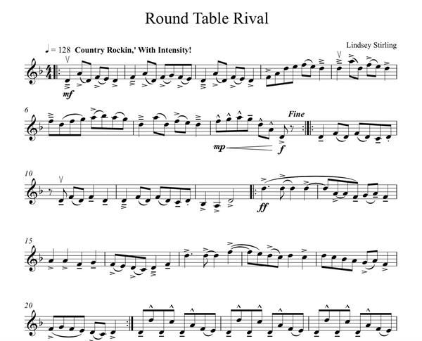 Roundtable Rival Sheet Music w/ KARAOKE