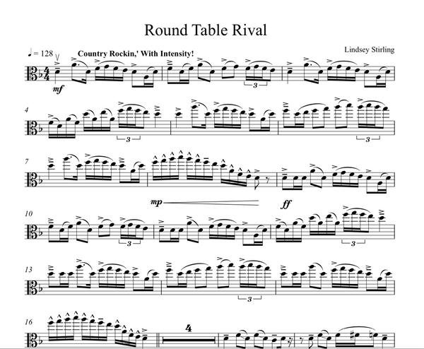VIOLA Roundtable Rival Sheet Music w/ KARAOKE