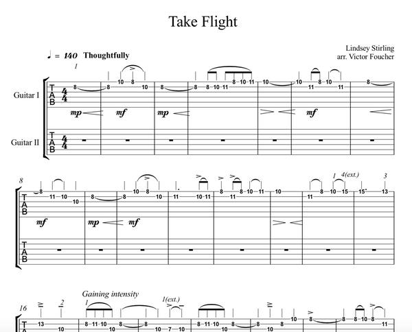GUITAR Take Flight Sheet Music w/ KARAOKE