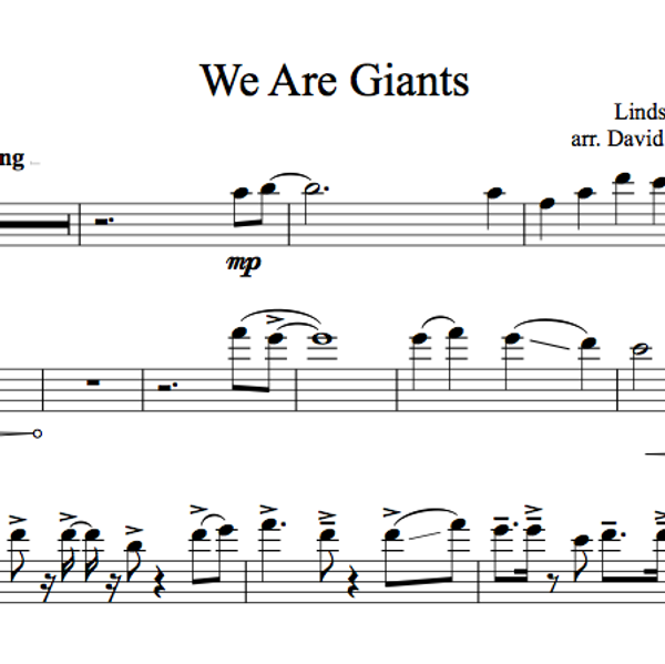 CELLO We Are Giants Sheet Music w/ KARAOKE