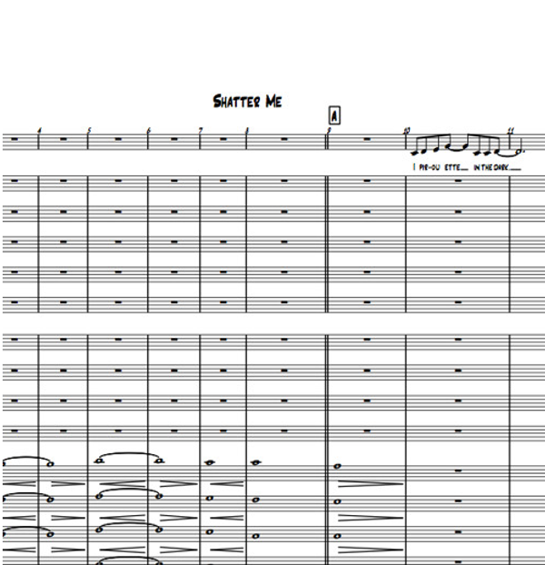 Jazz Band - Shatter Me - Sheet Music