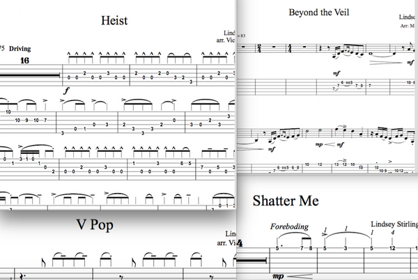 Guitar Shatter Me Album - Sheet Music Package