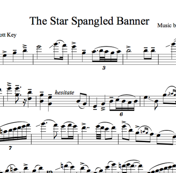 CELLO - The Star Spangled Banner - Sheet Music