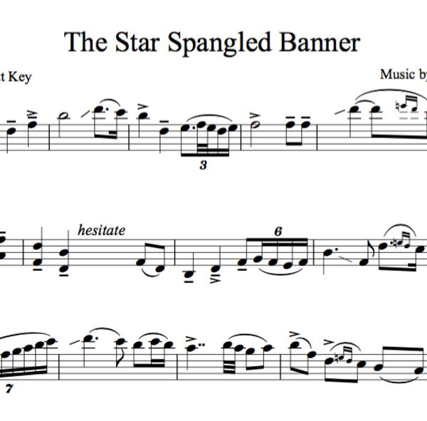 VIOLA Star Spangled Banner - Sheet Music