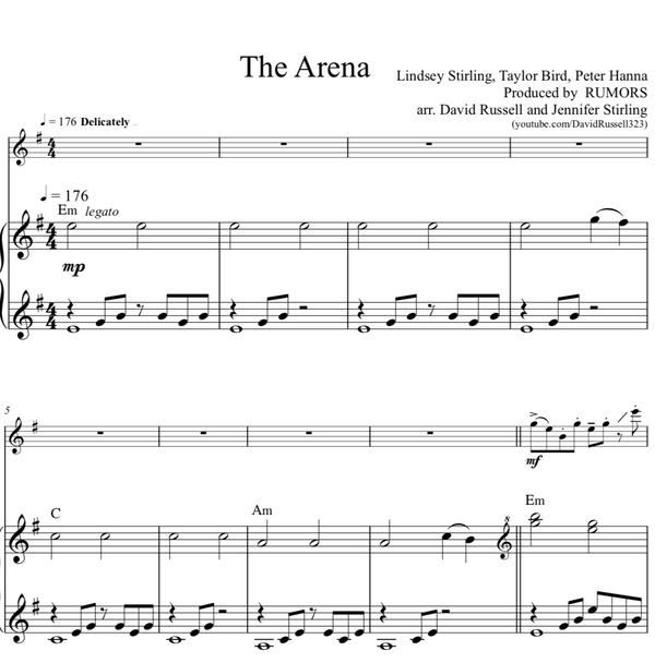 The Arena w/ KARAOKE Play-Along Tracks - Sheet Music