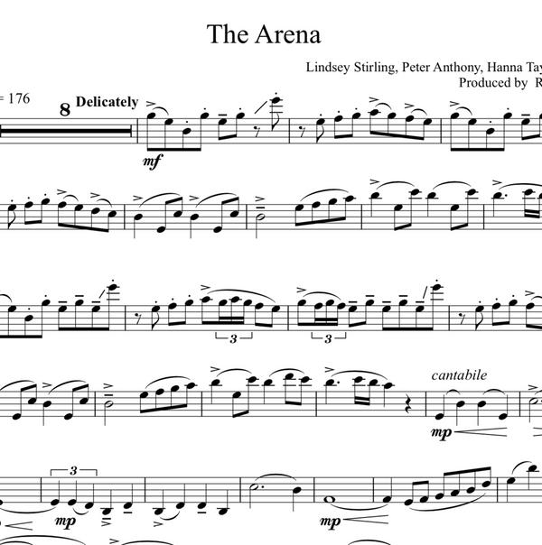 The Arena Sheet Music w/ KARAOKE