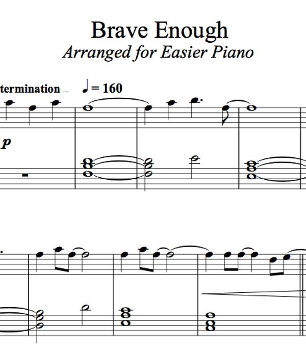 PIANO - Brave Enough Sheet Music