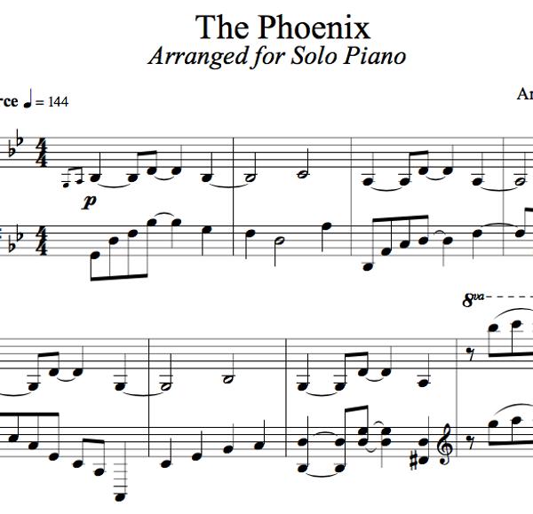 PIANO -  The Phoenix Sheet Music
