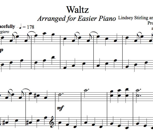 PIANO Waltz Sheet Music