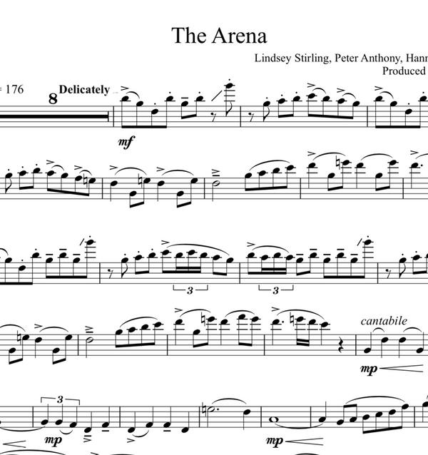 VIOLA The Arena Sheet Music w/ KARAOKE