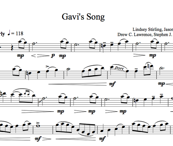 CELLO - Gavi's Song w/ KARAOKE Play-Along Tracks - Sheet Music