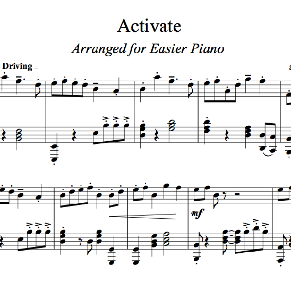 PIANO -  Activate Sheet Music