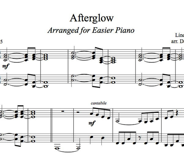 PIANO -  Afterglow Sheet Music