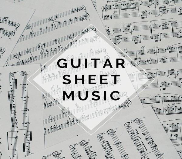GUITAR Gavi's Song Guitar Tabs w/ KARAOKE Play-Along Track - Sheet Music