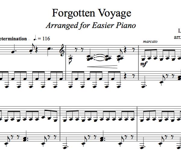 PIANO -  Forgotten Voyage Sheet Music