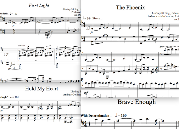 Brave Enough Album - Piano Sheet Music Package