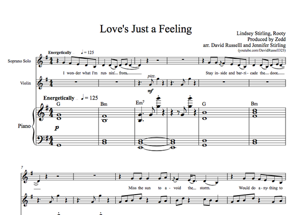 Love's Just a Feeling w/ KARAOKE Play-Along Tracks - Sheet Music