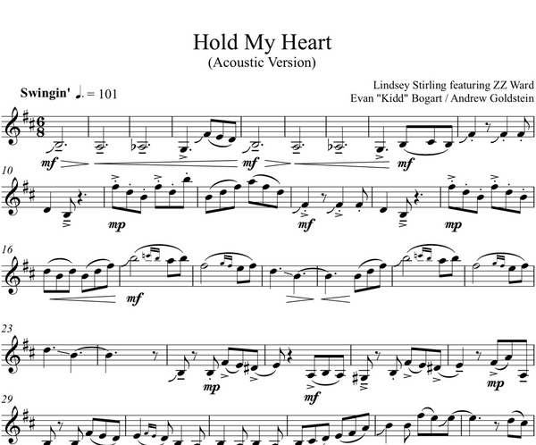 Hold My Heart w/ KARAOKE Play-Along Tracks - Sheet Music