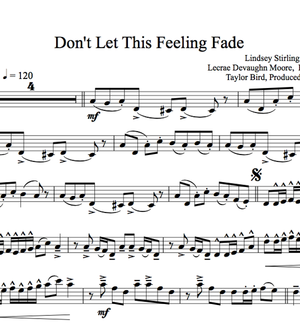 Don't Let This Feeling Fade w/ KARAOKE Play-Along Tracks - Sheet Music
