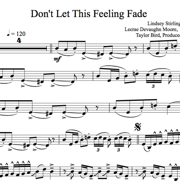 CELLO - Don't Let This Feeling Fade w/ KARAOKE Play-Along Tracks - Sheet Music