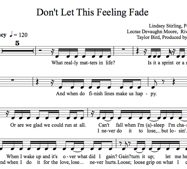 VIOLA Don't Let This Feeling Fade w/ KARAOKE Play-Along Tracks - Sheet Music