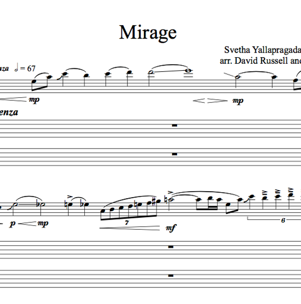 Mirage - w/ KARAOKE Play-Along Tracks - Sheet Music