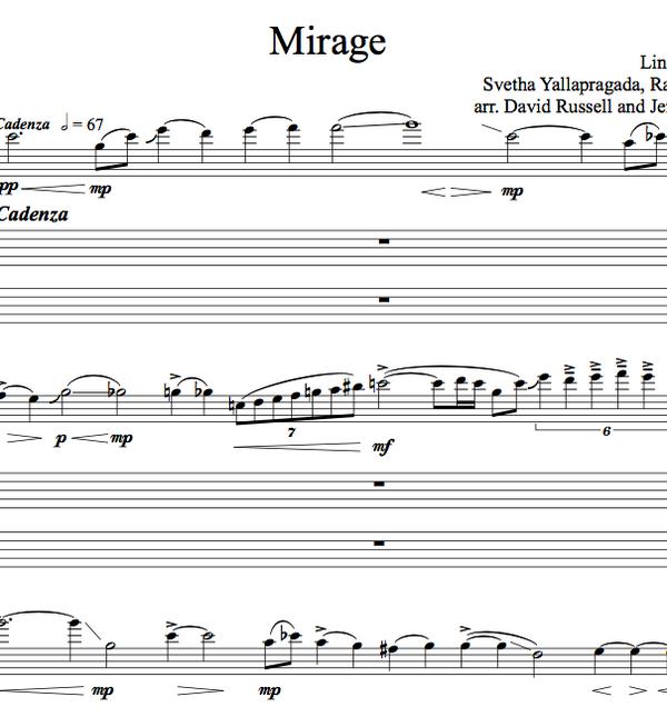 VIOLA Mirage Sheet Music w/ KARAOKE
