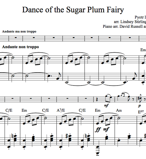 Dance of the Sugar Plum Fairy w/KARAOKE Play-Along tracks - Sheet Music