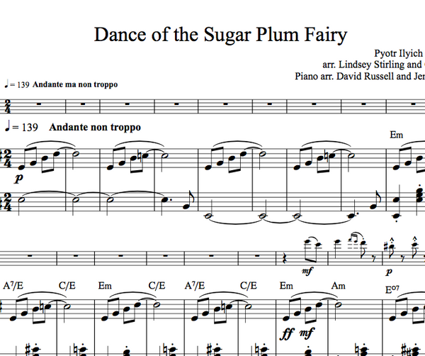 CELLO - Dance of the Sugar Plum Fairy w/ KARAOKE Play-Along Tracks - Sheet Music