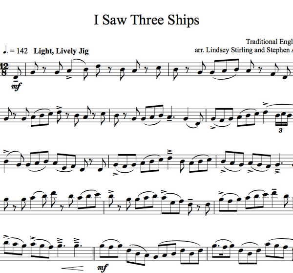 I Saw Three Ships w/KARAOKE Play-Along tracks - Sheet Music