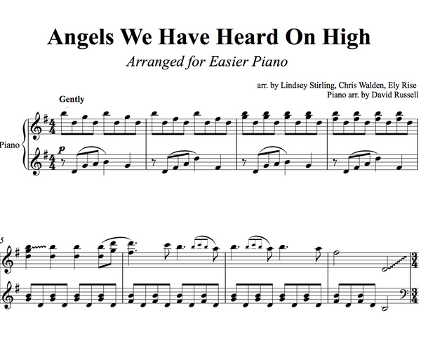 PIANO -  Angels We Have Heard on High Sheet Music
