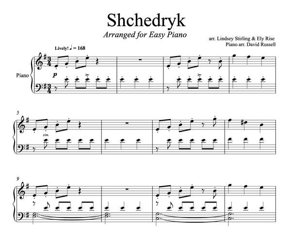 PIANO Shchedryk Sheet Music