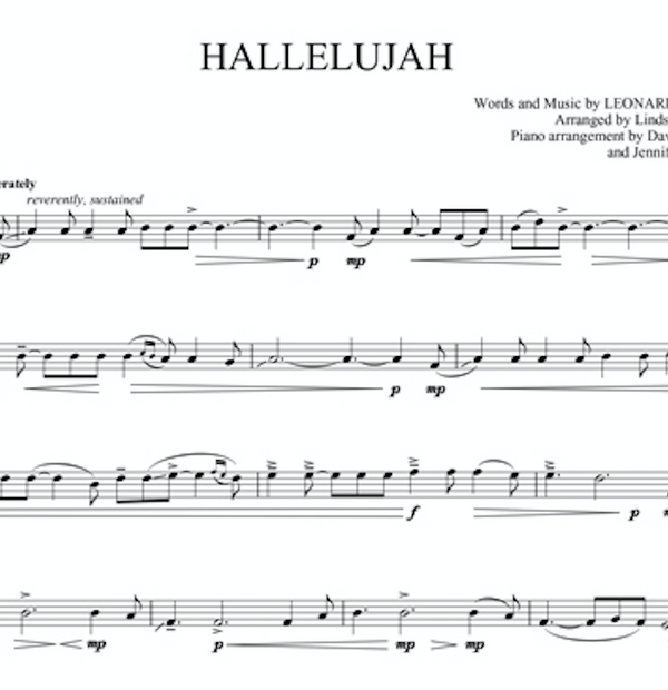 Hallelujah Violin Solo with Piano Accompaniment