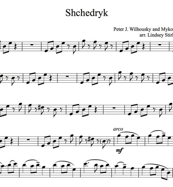 Shchedryk (Carol of the Bells) w/KARAOKE Play-Along tracks - Sheet Music