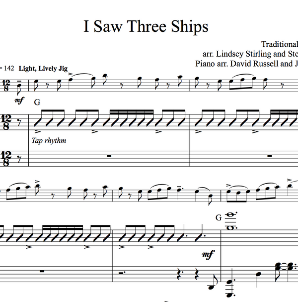 CELLO - I Saw Three Ships w/ KARAOKE Play-Along Tracks - Sheet Music