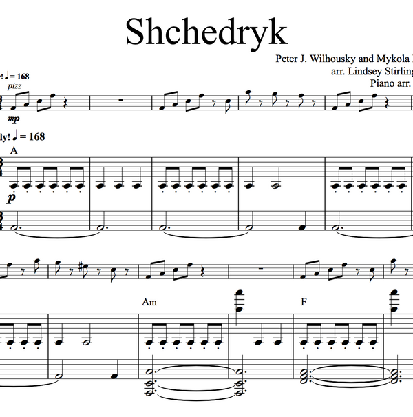 CELLO - Shchedryk (Carol of the Bells) w/ KARAOKE Play-Along Tracks - Sheet Music