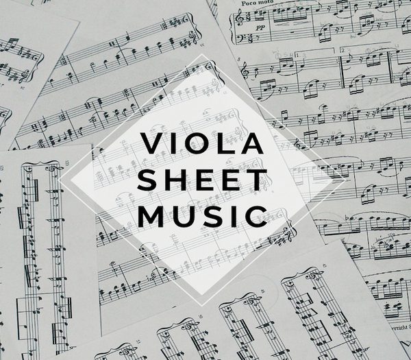 VIOLA Carol of the Bells Sheet Music w/ KARAOKE