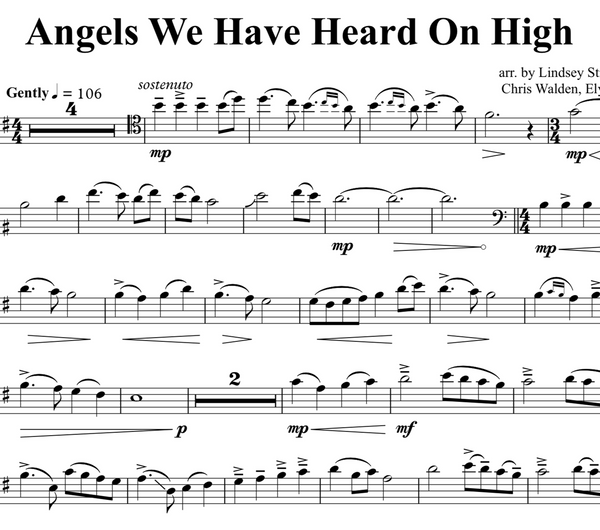 CELLO Angels We Have Heard On High w/ KARAOKE